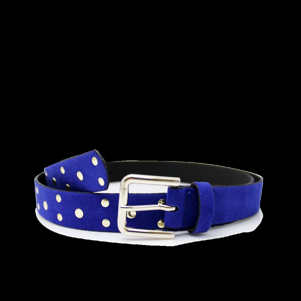 Дамски колан от еко велур в син цвят LD-3171 - 1