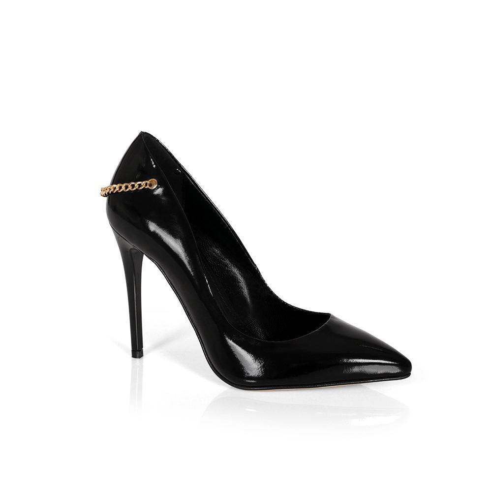 Дамски обувки от естествен лак CP-2559/1 - 1