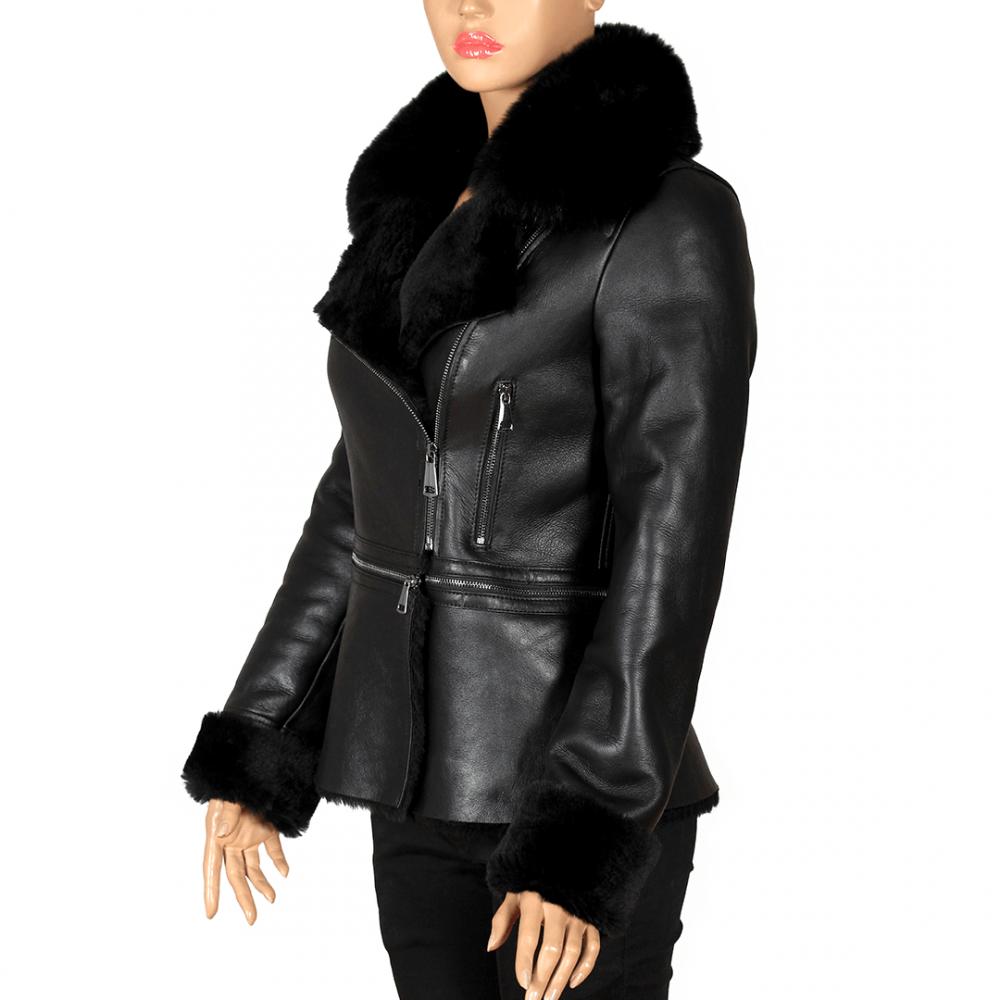 Дамско яке от естествена кожа ING-1902 - 3