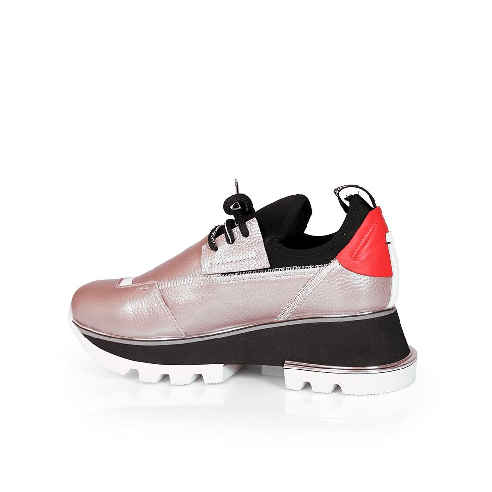 Дамски спортни обувки от естествена кожа и стреч ILV-2052/1 - 3