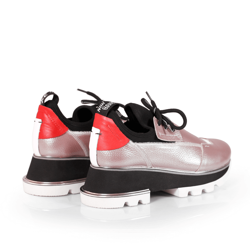Дамски спортни обувки от естествена кожа и стреч ILV-2052/1 - 6