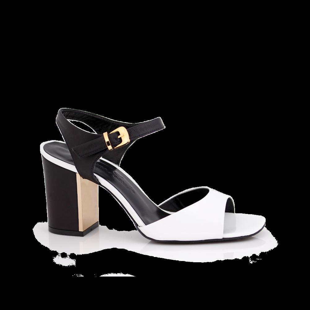 Дамски сандали естествен лак  - 1
