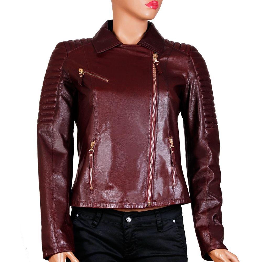 Дамско яке от естествена кожа MF-1331 - 1