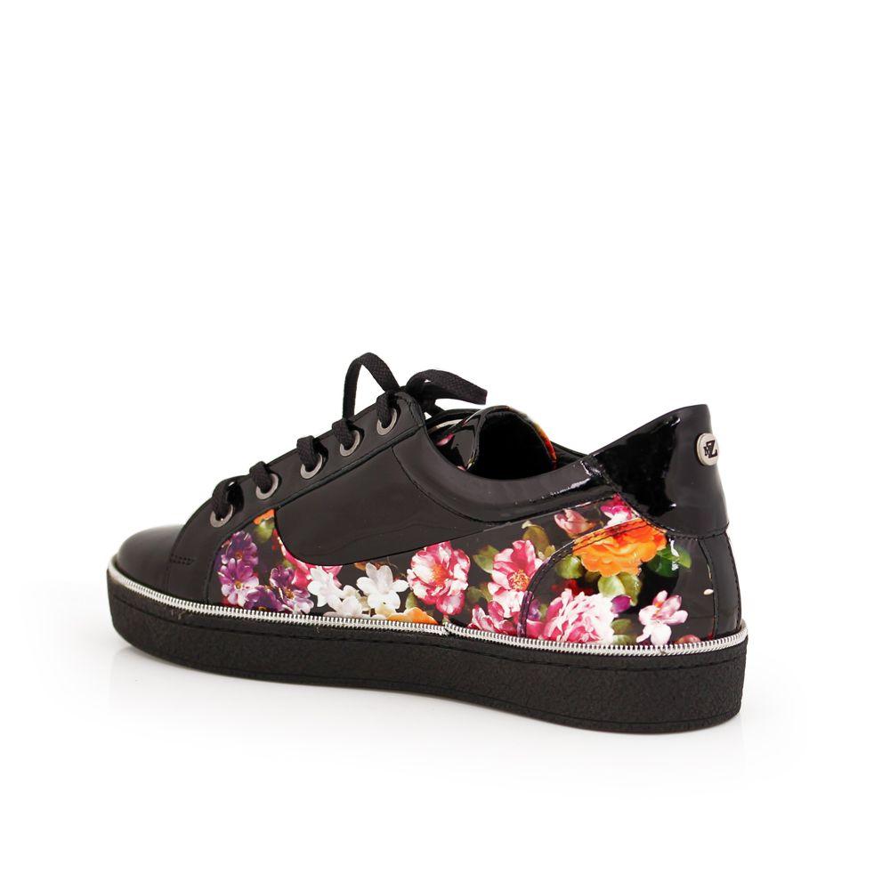 Дамски спортни обувки естествен лак - 2