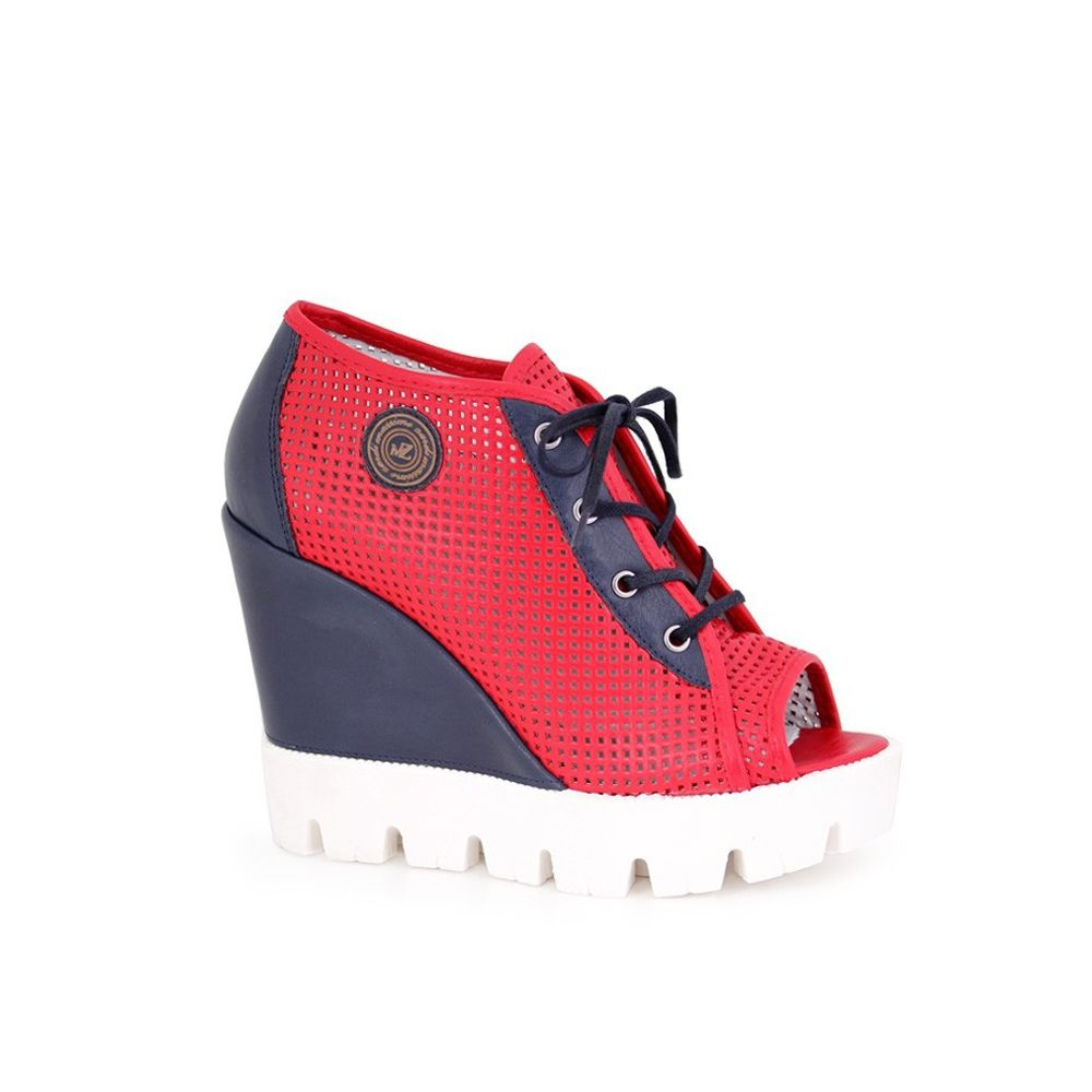 Дамски летни обувки от естествена кожа  - 1