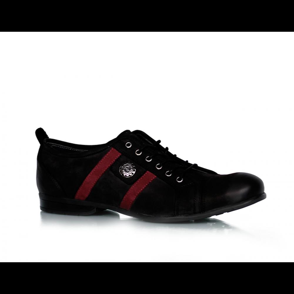 Мъжки обувки черен набук MCP-45585 - 1