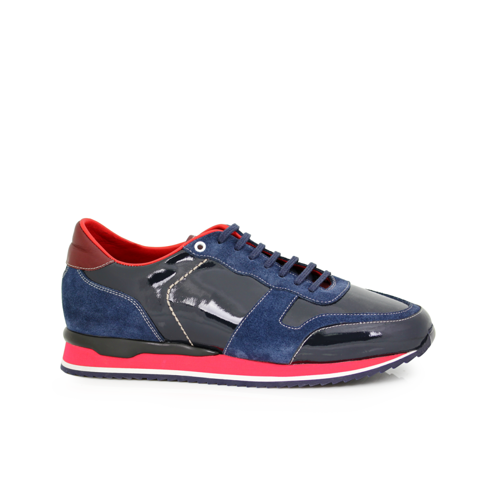 Мъжки спортни обувки син лак MRS-11475 - 1