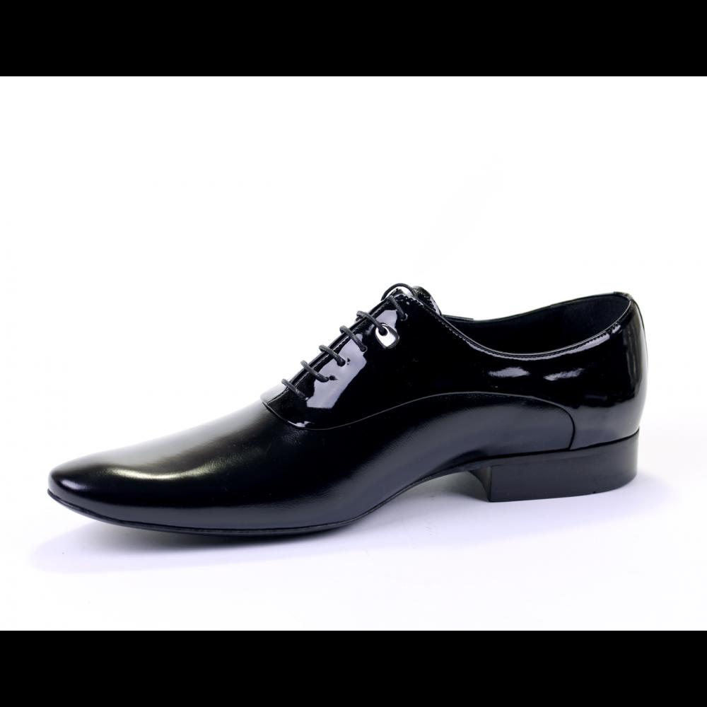 Мъжки официални обувки естествена кожа и лак - 2