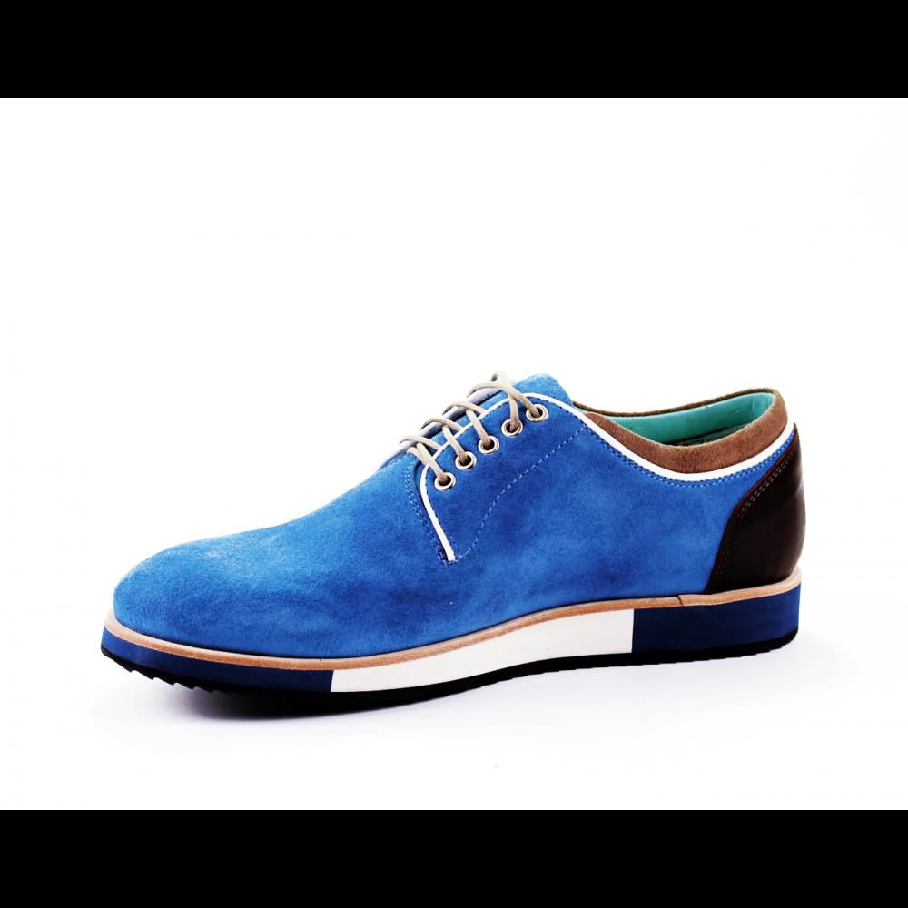 Мъжки ежедневни обувки от естествен велур - 2