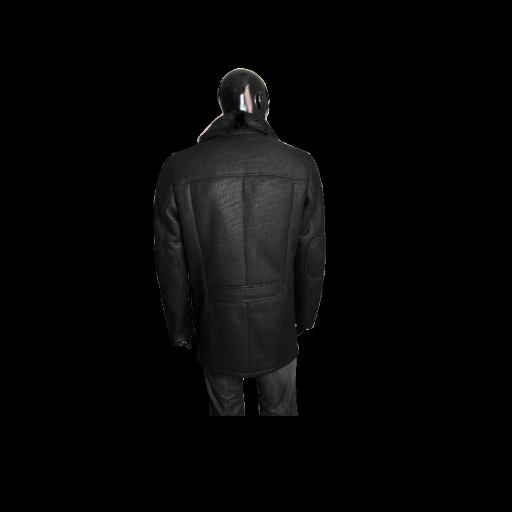 Мъжко яке от естествена кожа  K-502 Черен - 2