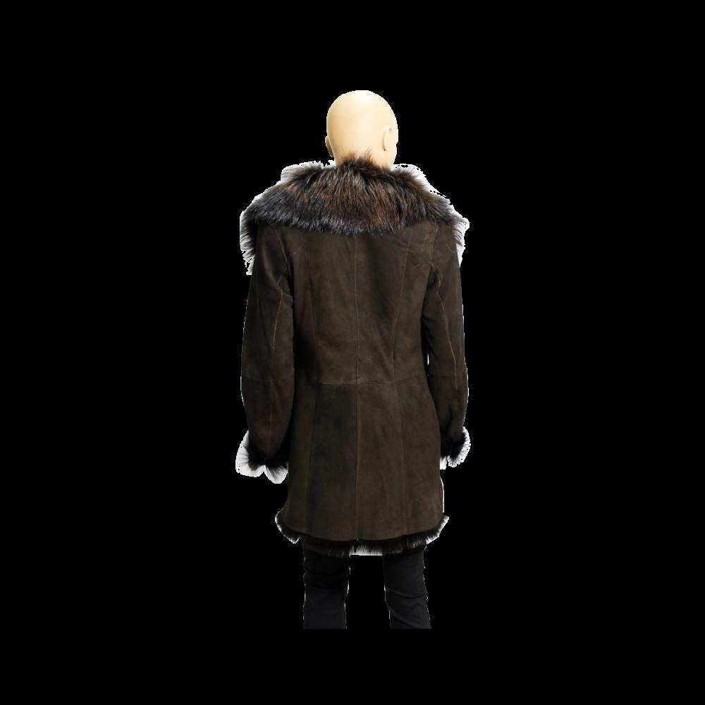 Дамско палто от естествен велур  - 2