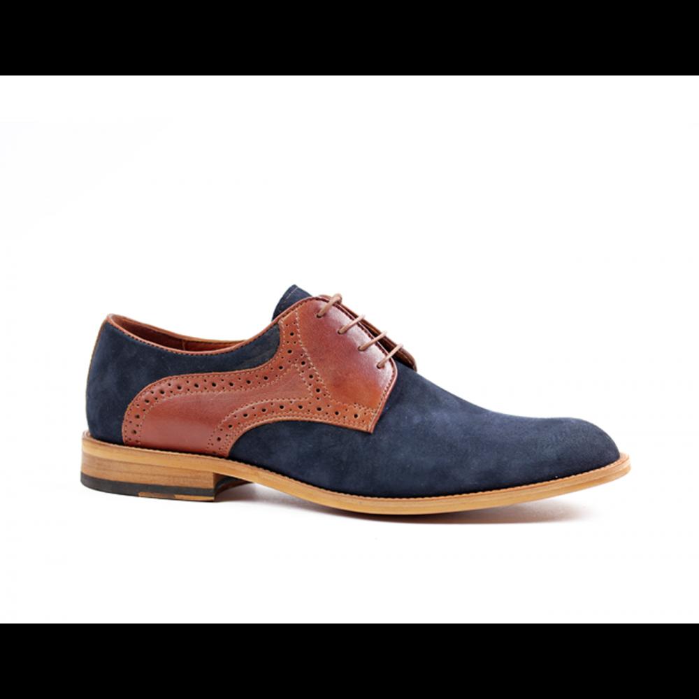 Мъжки ежедневни обувки от естествен набук - 1