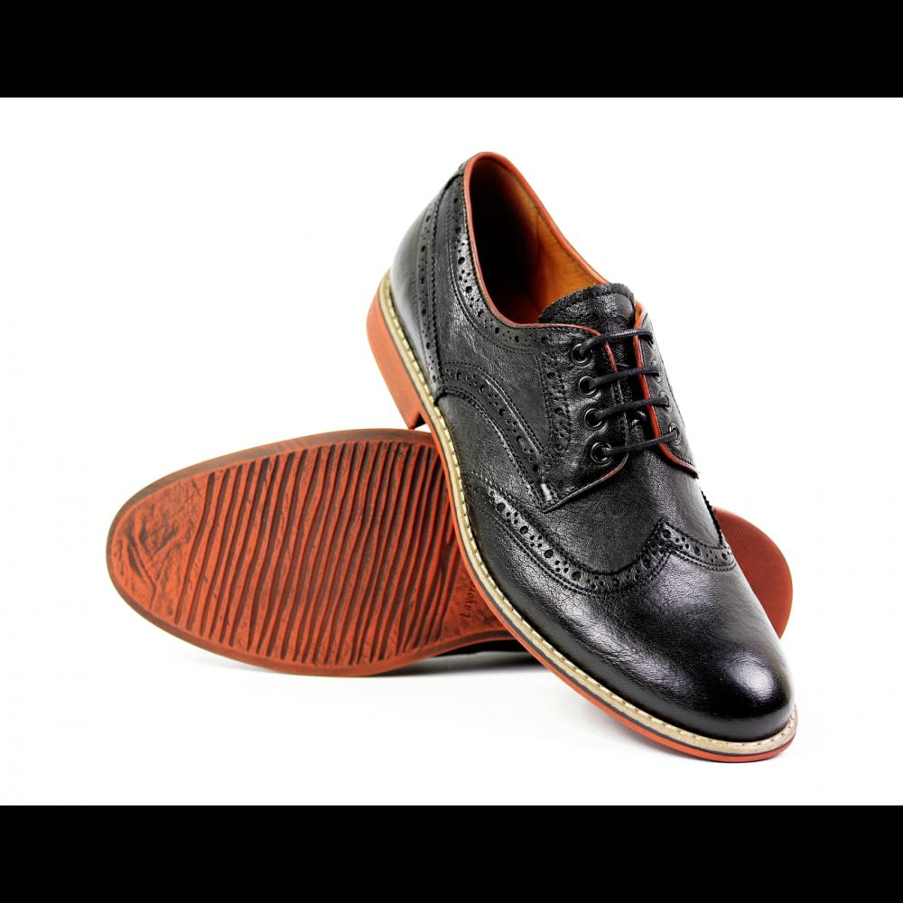 Мъжки ежедневни обувки от естествена кожа  - 3
