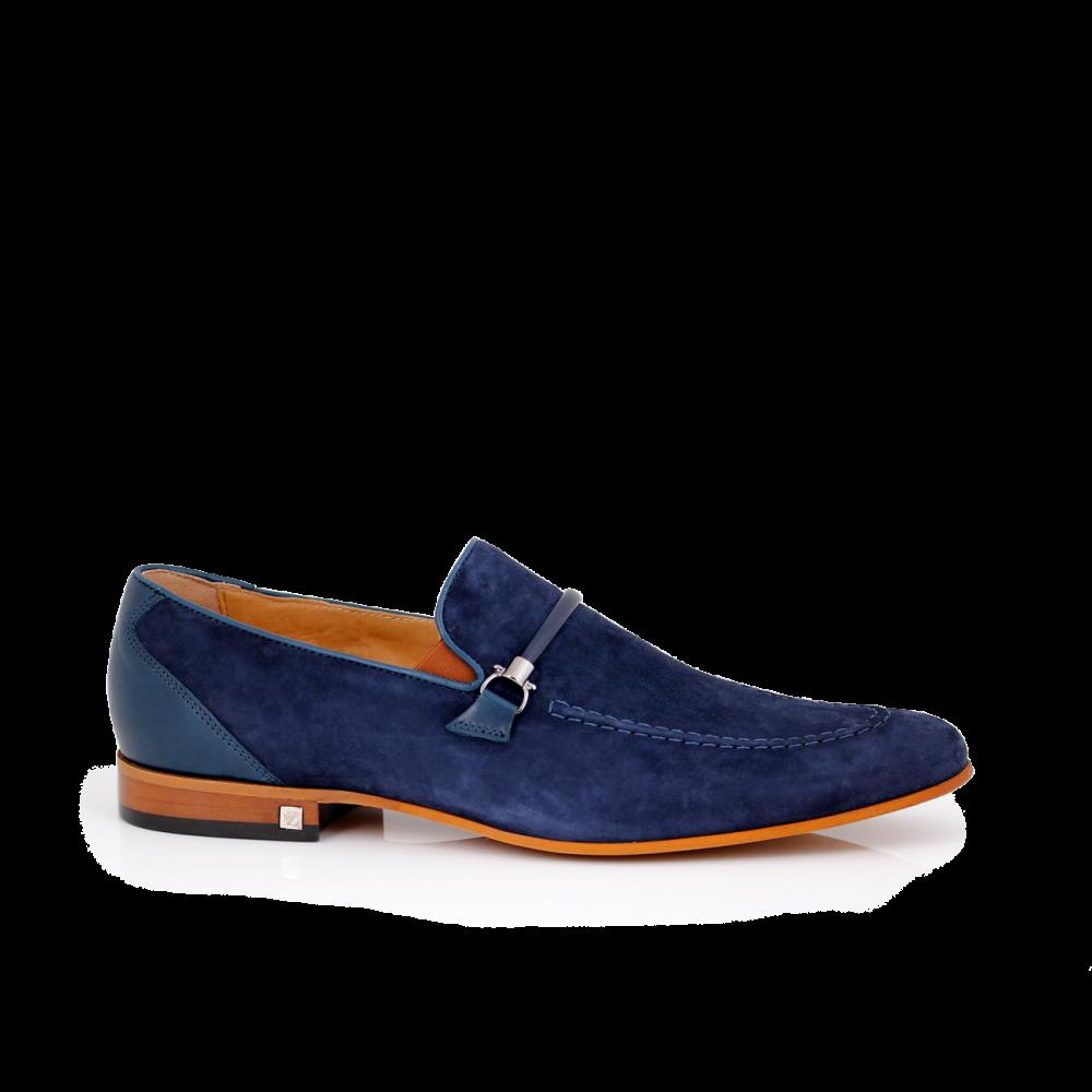 Мъжки обувки естествен набук и кожа - 1