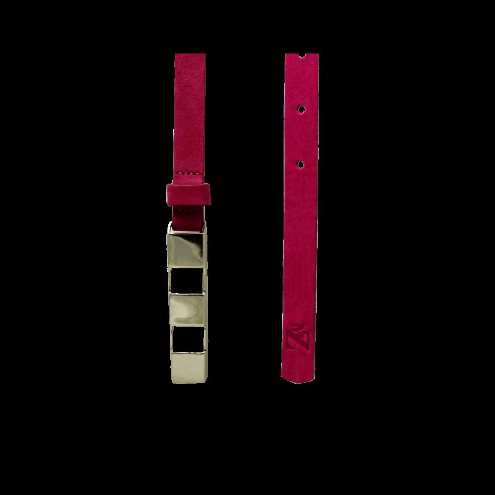 Дамски колан от естествен велур в розов цвят LD-4630 - 2