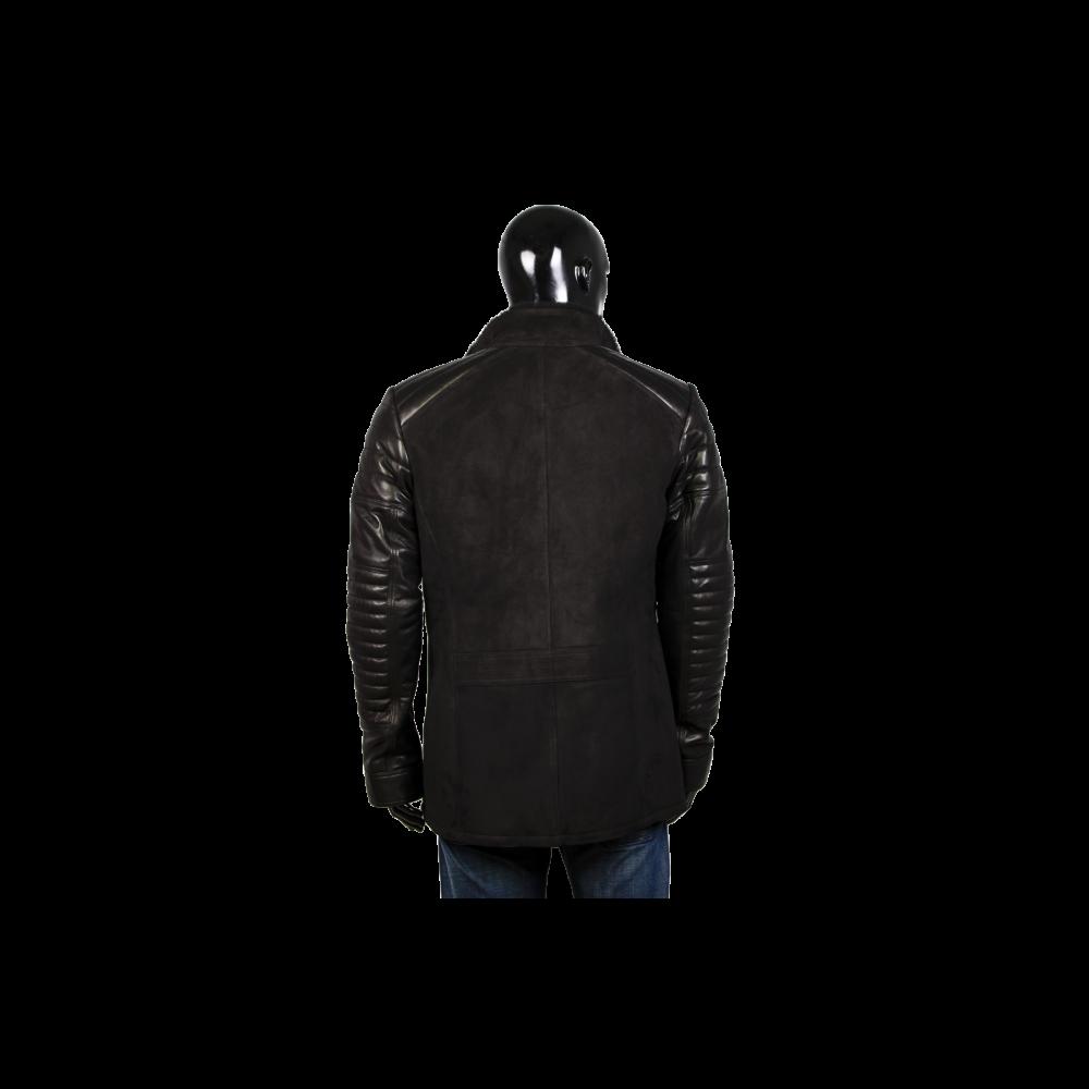Мъжко яке от естествена кожа в черен цвят CR-9115 - 2
