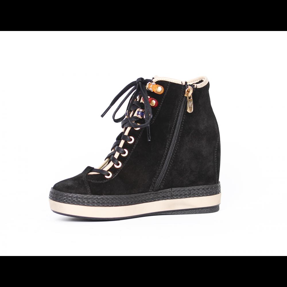 Дамски спортни обувки естествен велур - 2