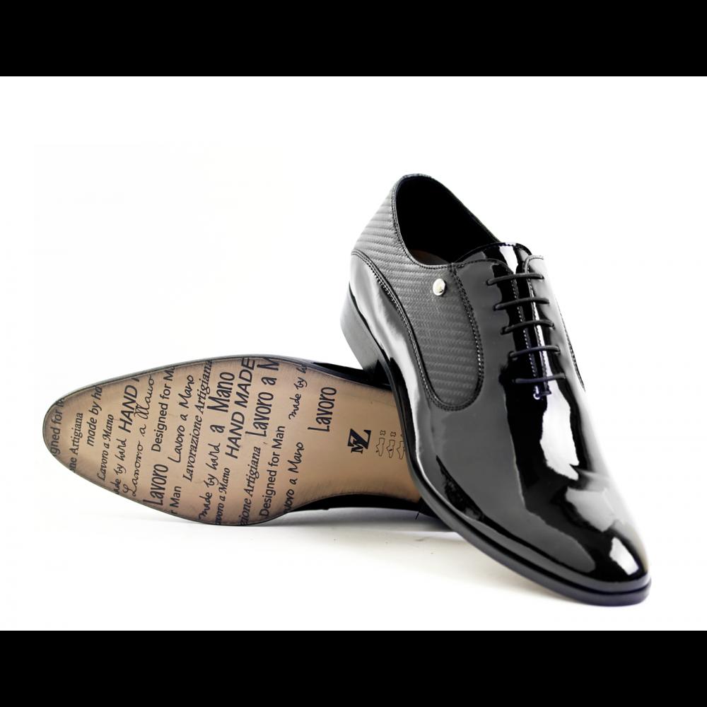 Мъжки официални обувки естествен лак - 3