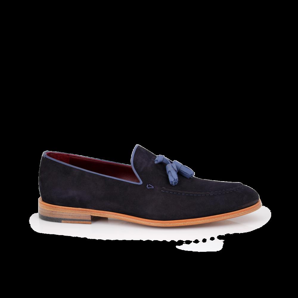Мъжки обувки от естествен велур - 1