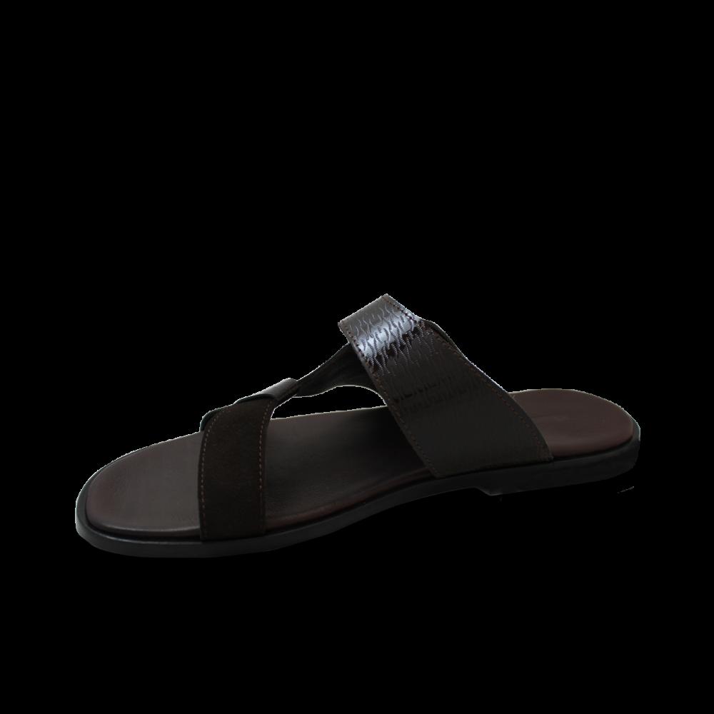 Мъжки  чехли от естествен велур - 2