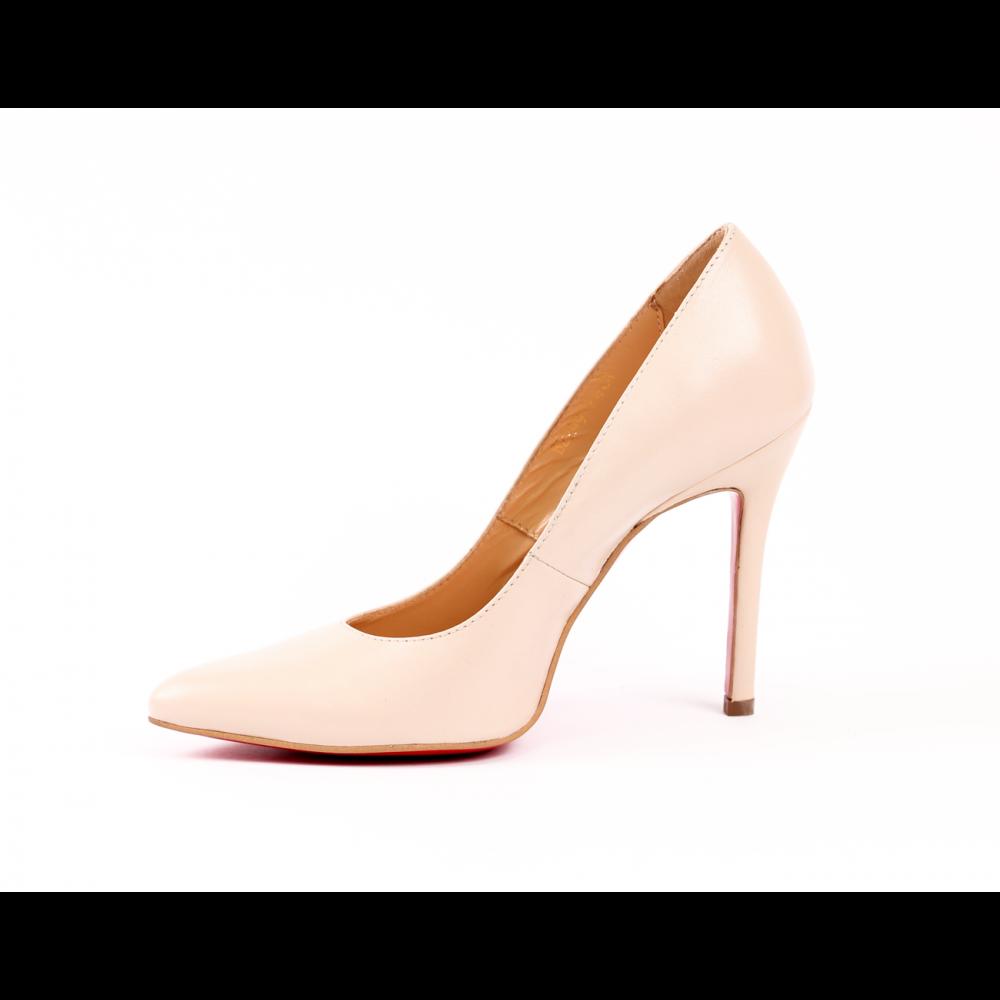 Дамски елегантни обувки от естествена кожа  - 3