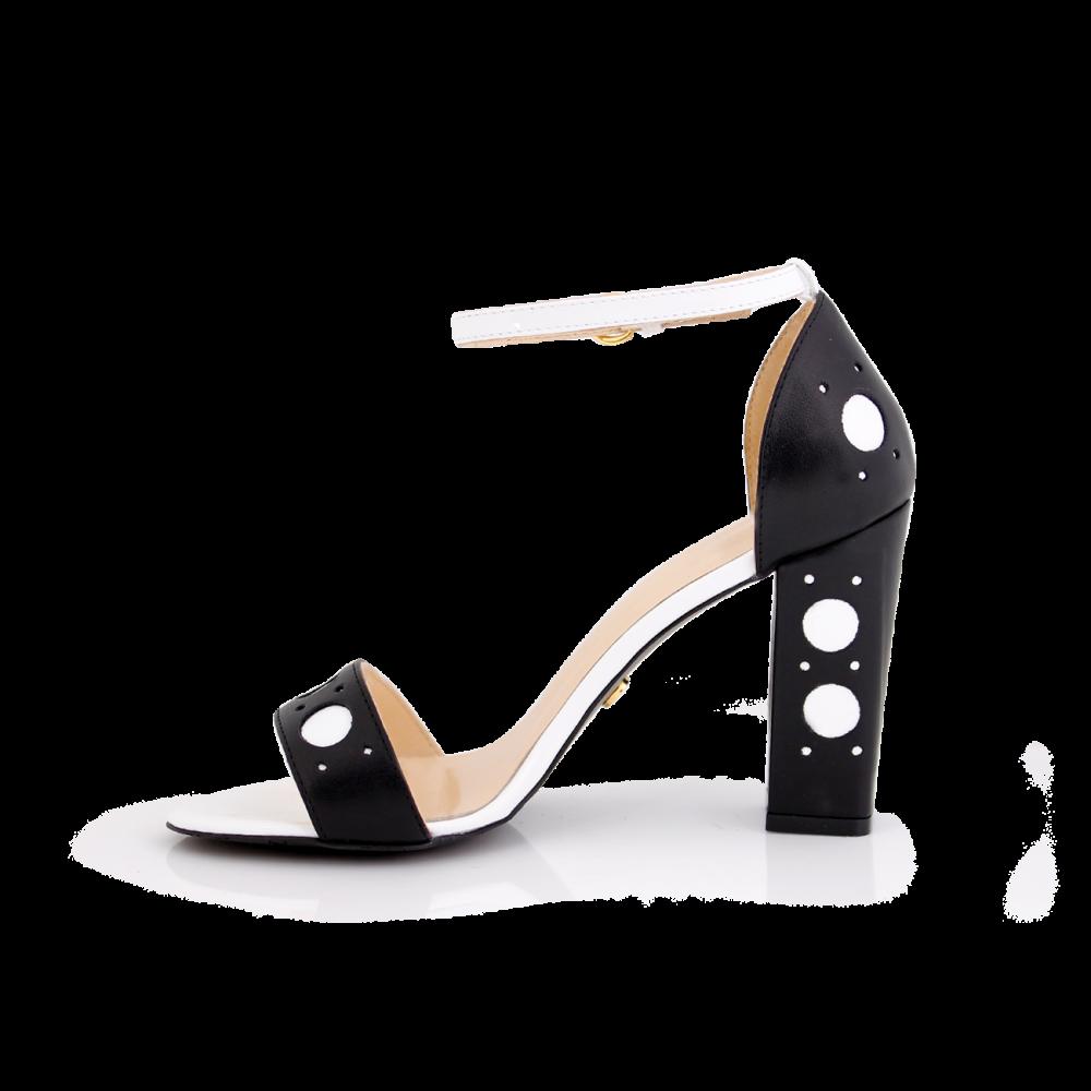 Дамски сандали от естествена кожа с висок ток - 2
