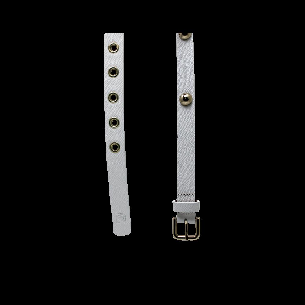 Дамски колан от естествена кожа в бял цвят LD-7633 - 2
