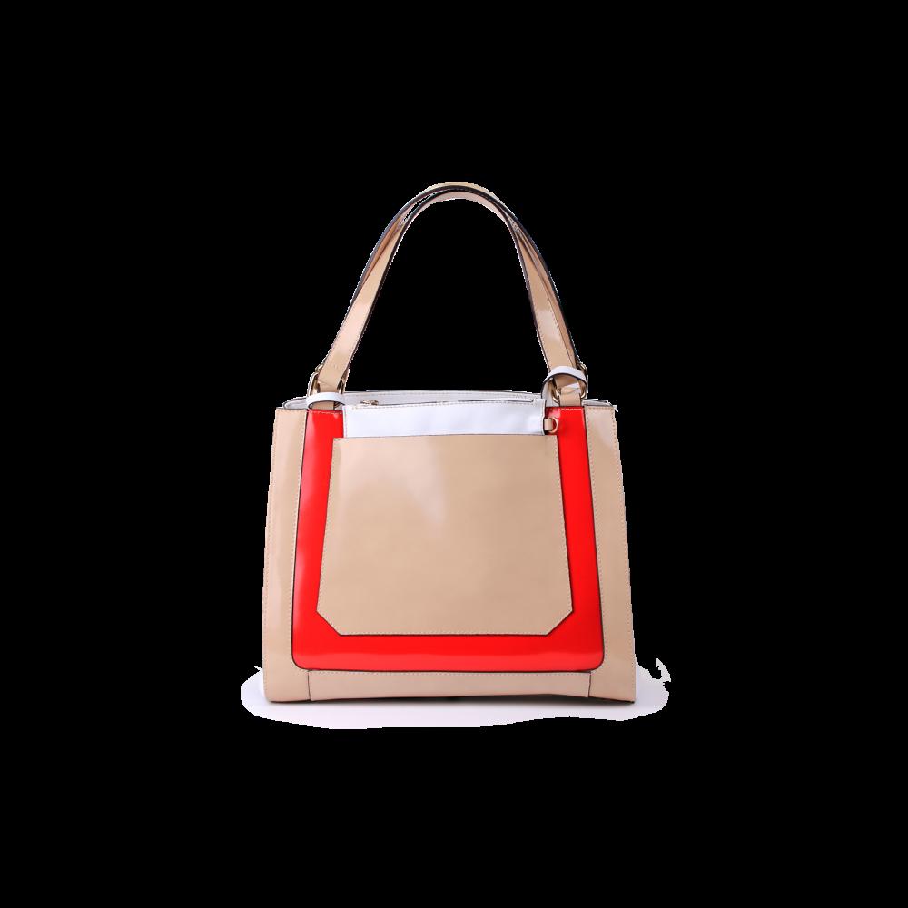 Дамска чанта от естествена кожа - 1