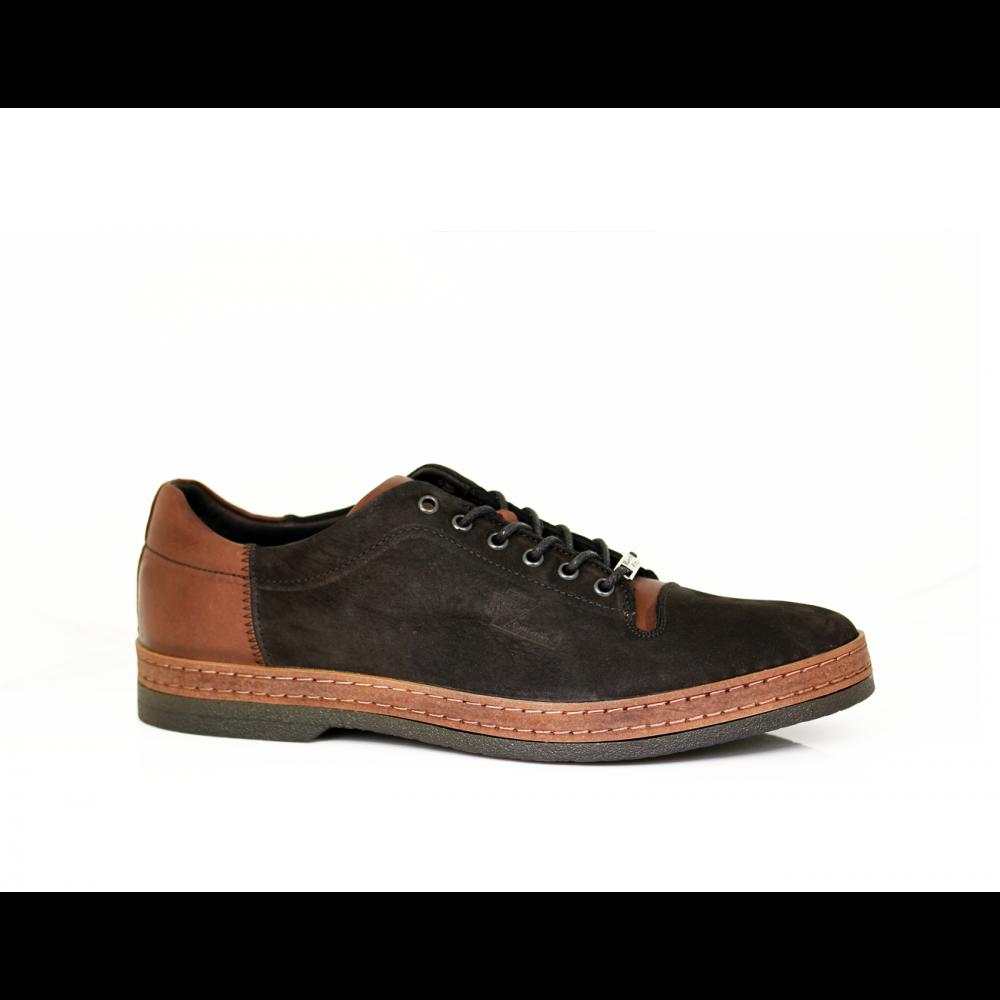 Мъжки спортни обувки от естествен набук - 1