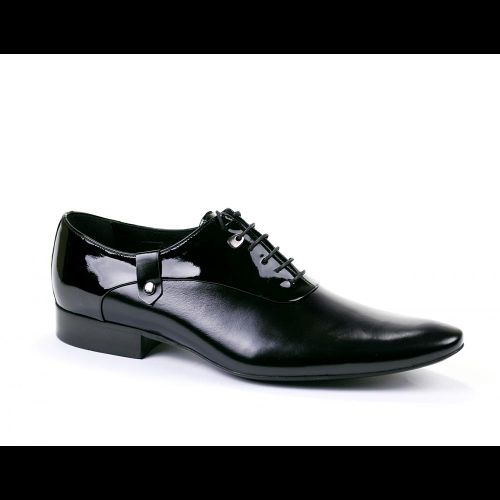 Мъжки официални обувки естествена кожа и лак - 1