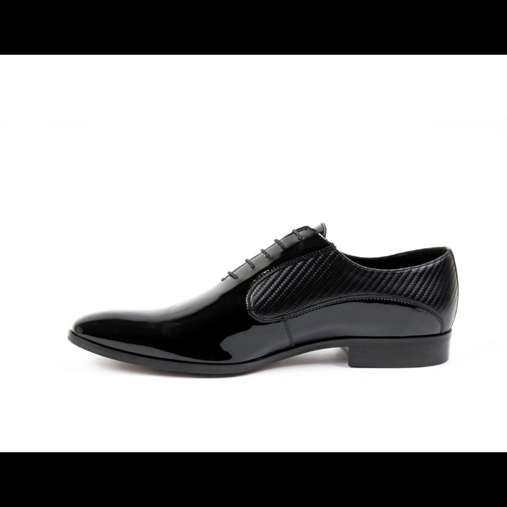 Мъжки официални обувки естествен лак - 2