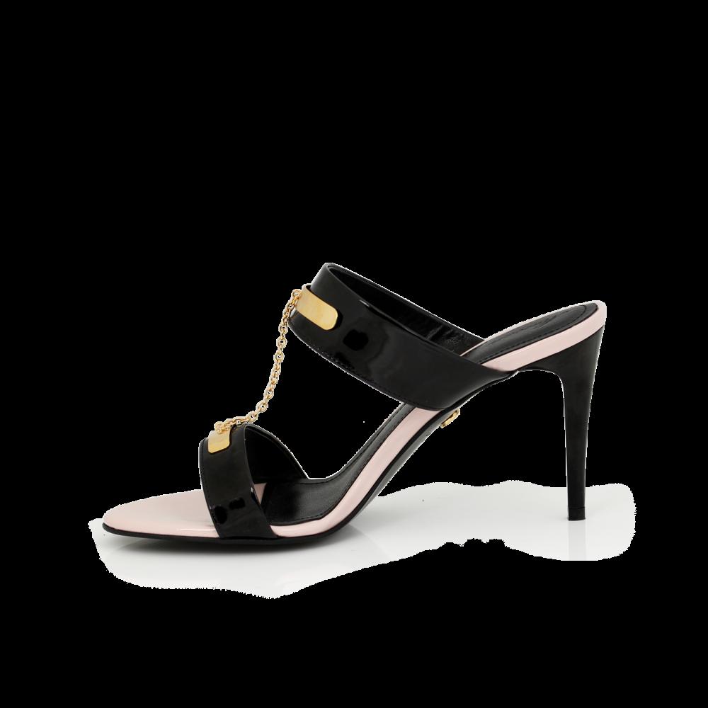 Дамски обувки от естесвен лак - 2