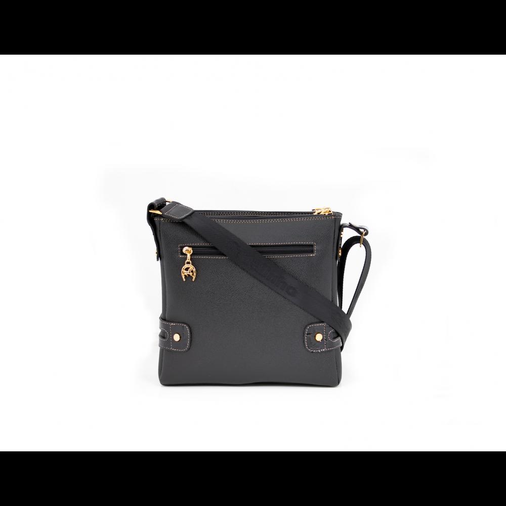 Дамска чанта естествена и еко кожа в черен цвят CV-111-88 - 3