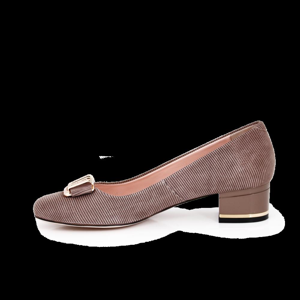 Дамски обувки от естествен щампован велур - 2