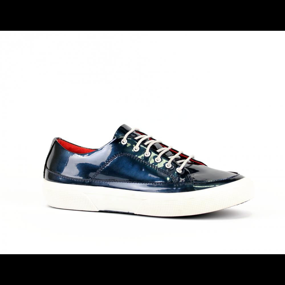 Дамски спортни обувки естествен син лак - 1