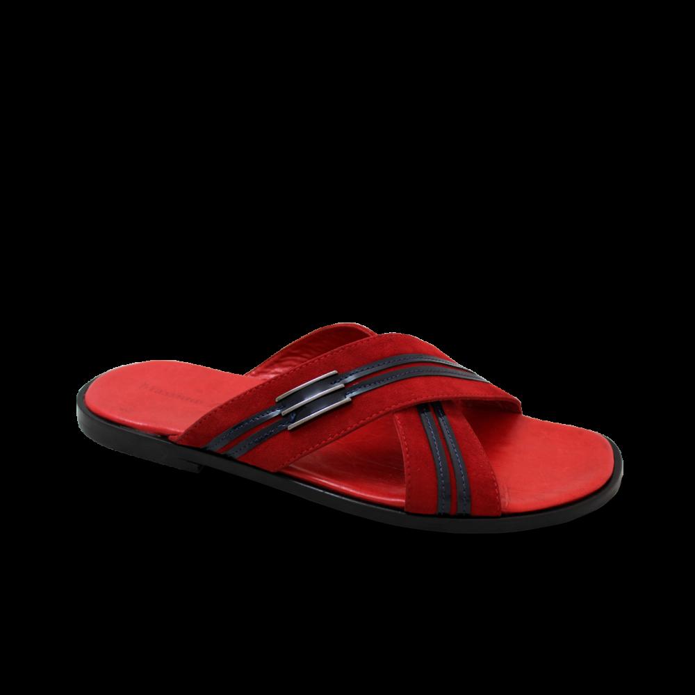 Мъжки чехли от естествен велур - 1