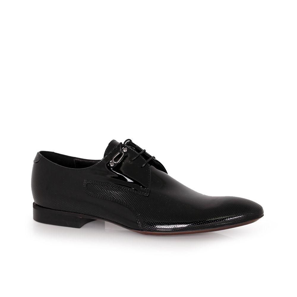 Мъжки официални обувки естествен лак - 1