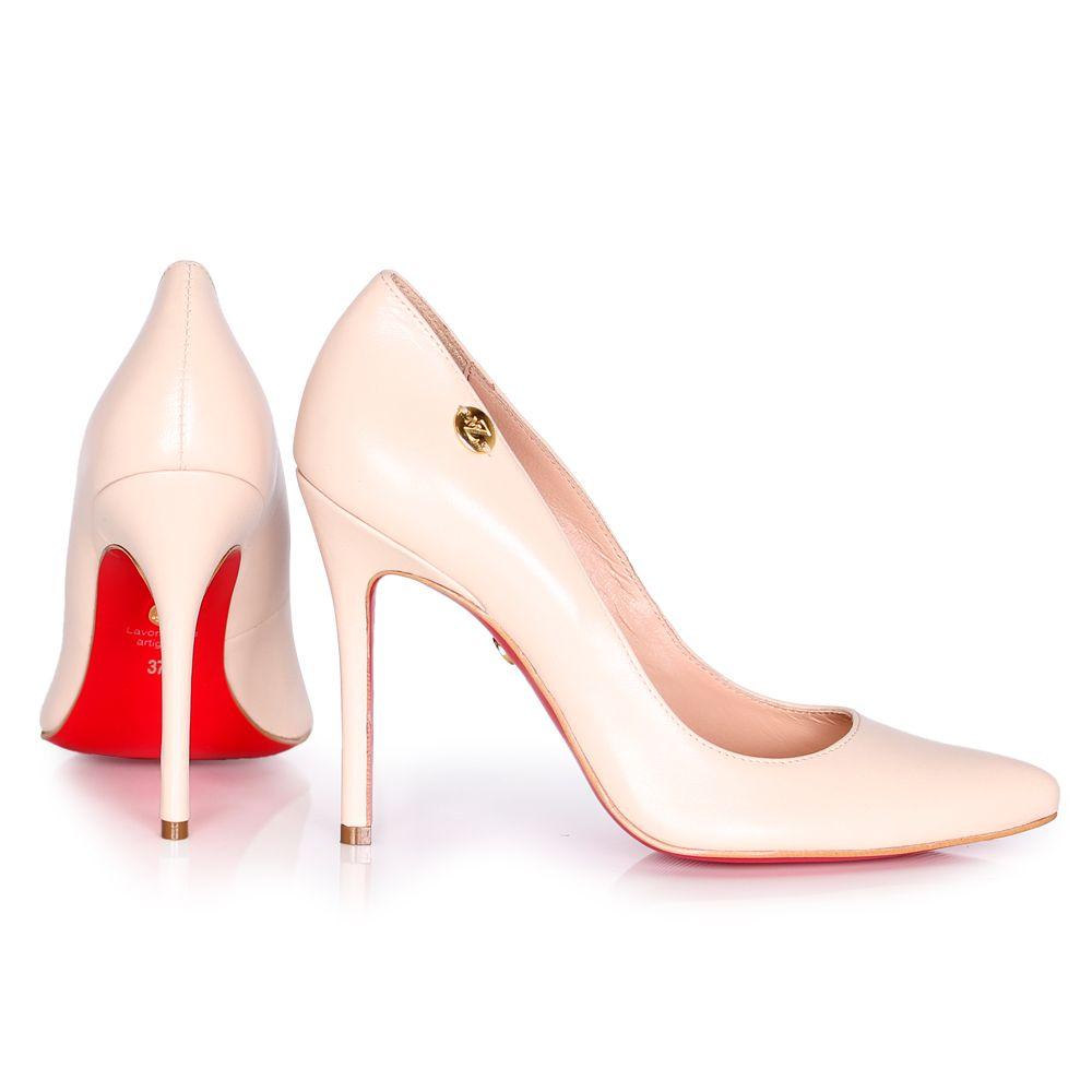 Дамски елегантни обувки от естествена кожа  - 2