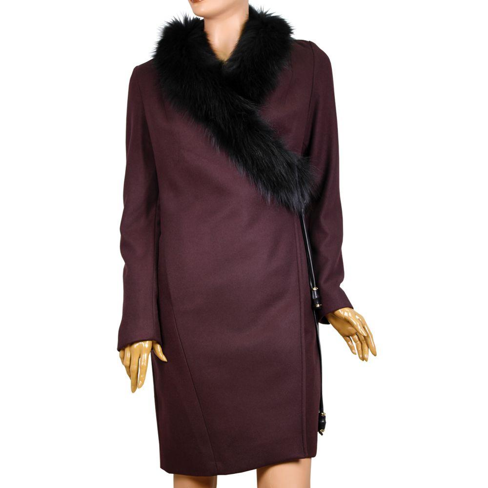Дамско палто от кашмир и лисица
