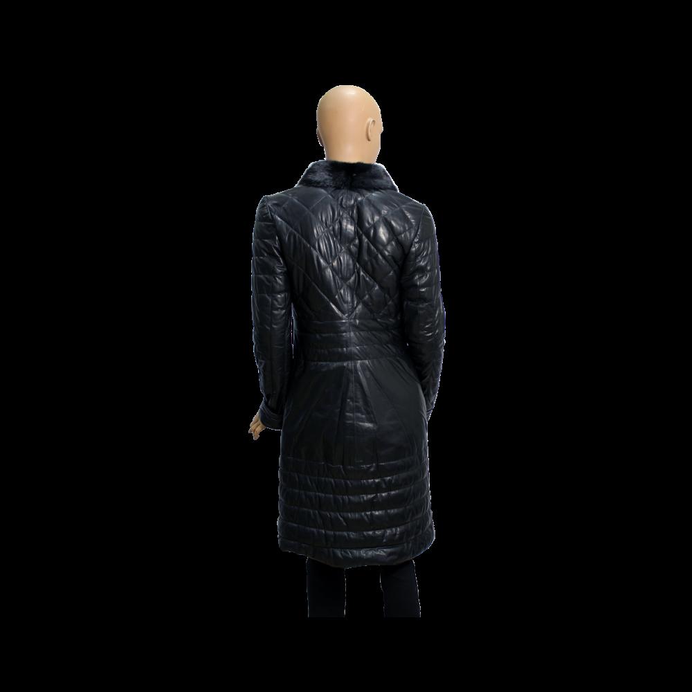 Дамско кожено палто от естествена кожа - 2