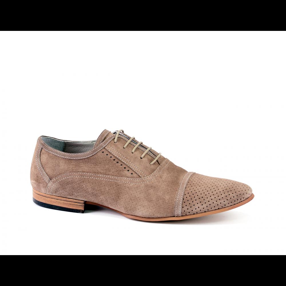 Мъжки ежедневни обувки от естествен велур - 1