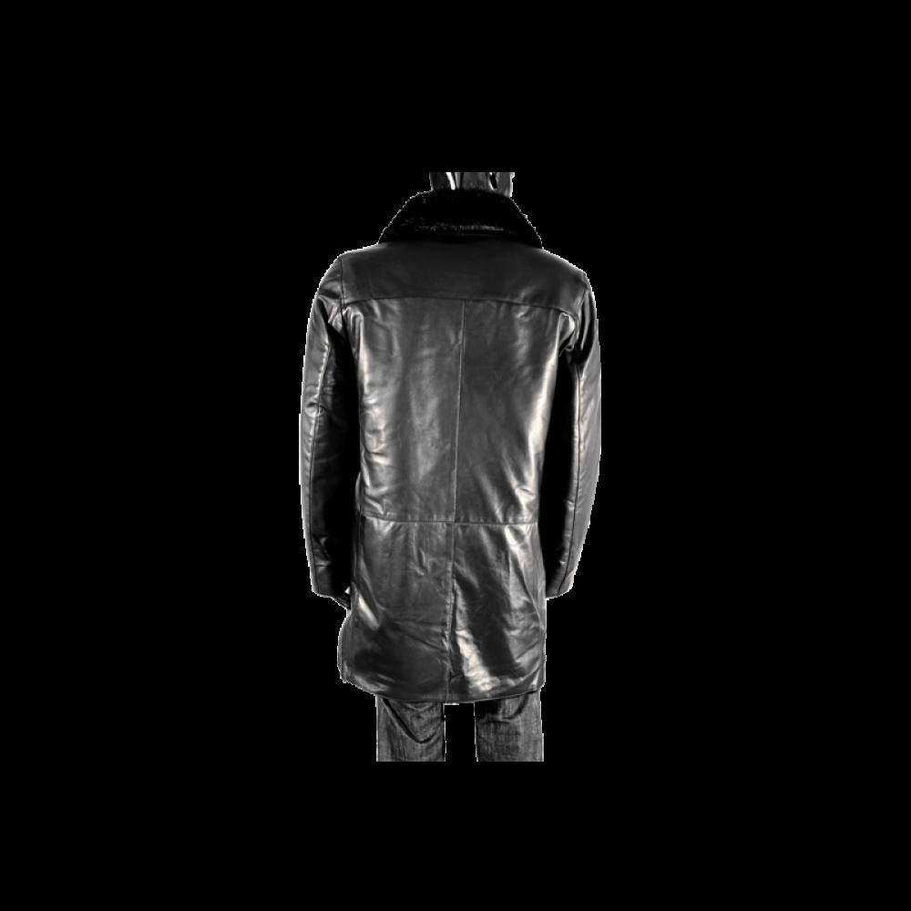 Мъжки якета от естествена кожа в черен цвят PM-95050 - 2
