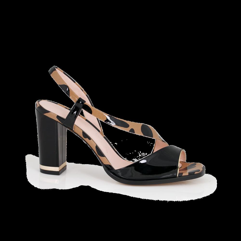 Дамски сандали от естествен лак - 1