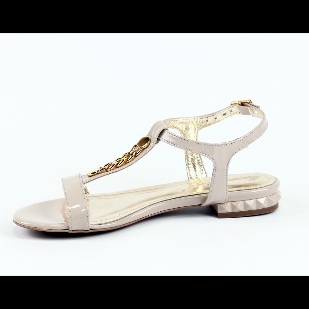 Дамски сандали естествен лак - 2