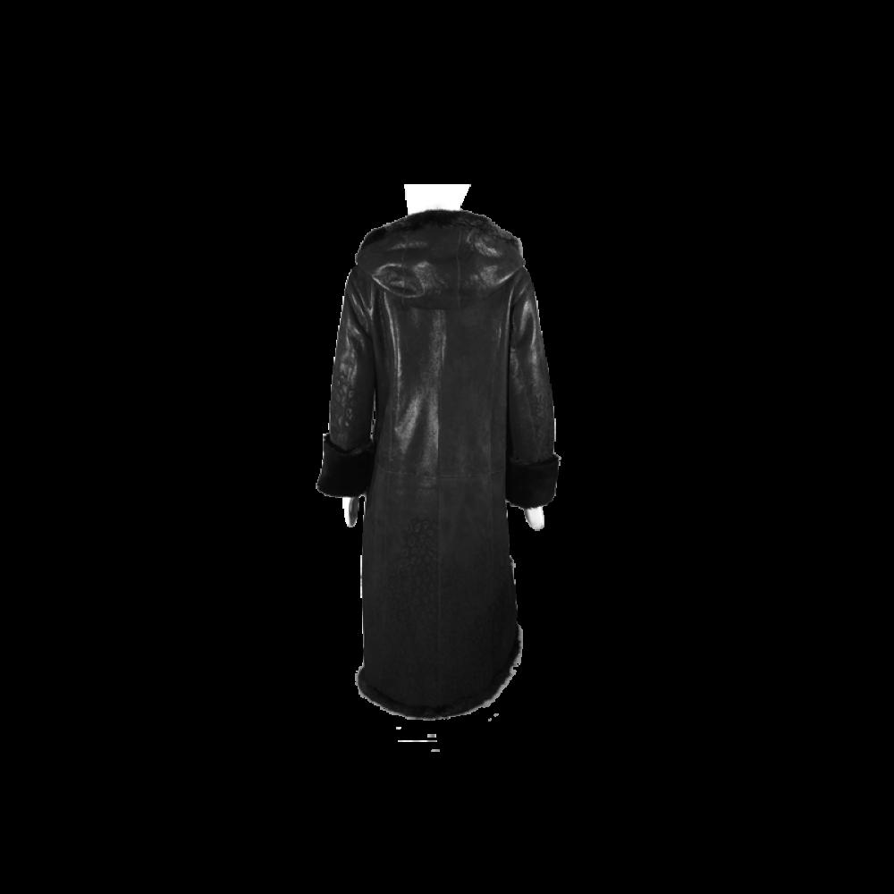 Дамско палто от естествена кожа - 3