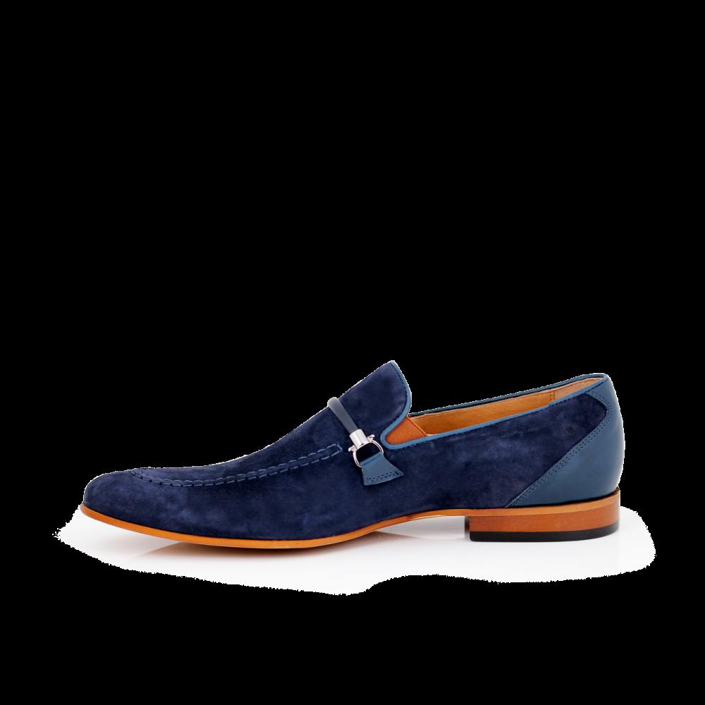 Мъжки обувки естествен набук и кожа - 3