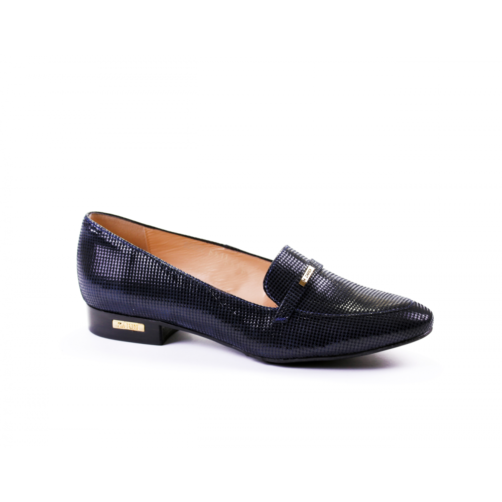 Дамски обувки естествена синя кожа - 1
