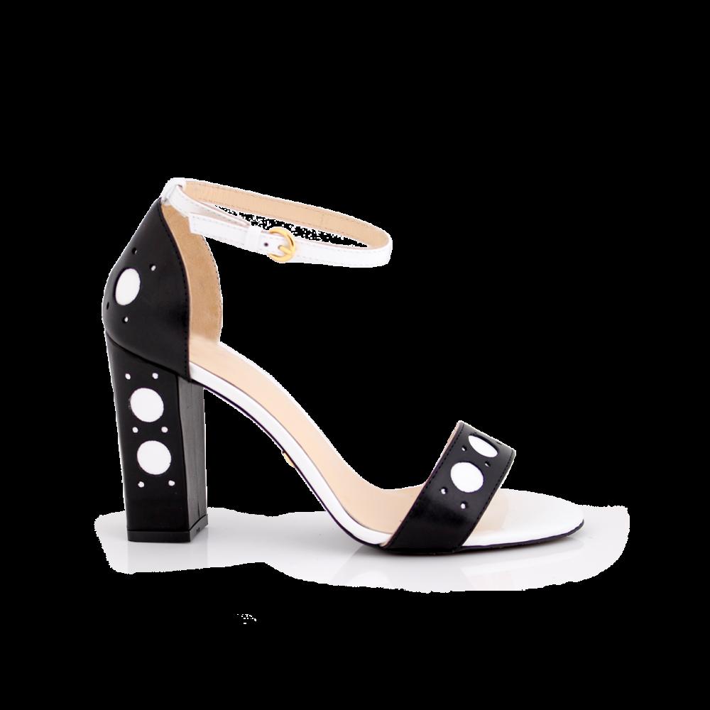 Дамски сандали от естествена кожа с висок ток - 1