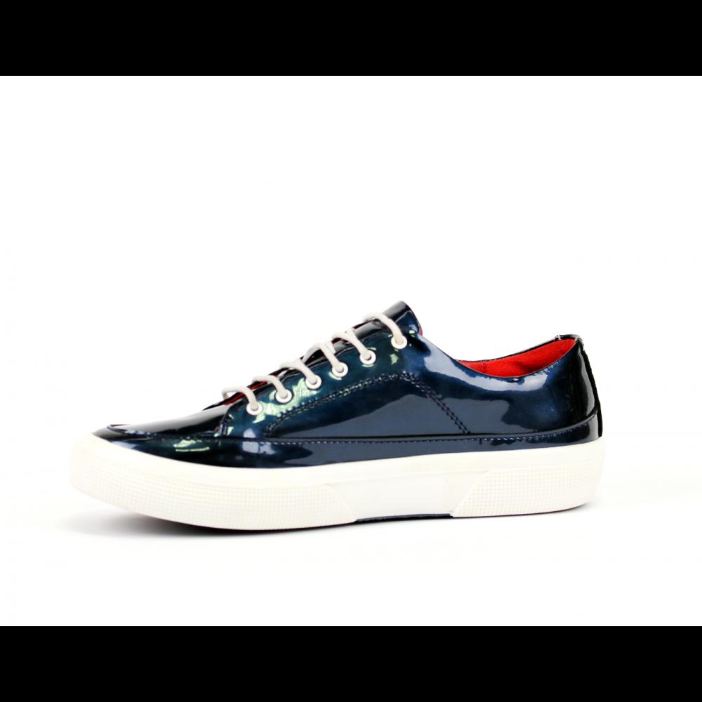 Дамски спортни обувки естествен син лак - 2