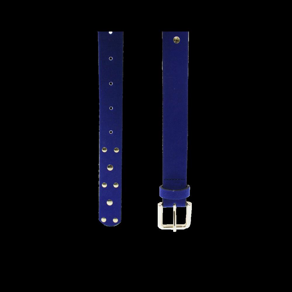 Дамски колан от еко велур в син цвят LD-3171 - 2